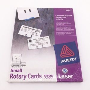 🔵 3 for $18 🔵 New In Box Avery rolodex cards